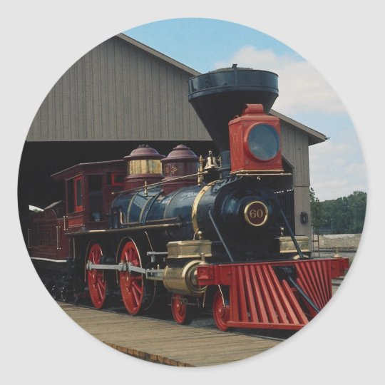 Central Pacific, 4-4-0 Classic Round Sticker