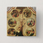 Central panel of a triptych 15 cm square badge