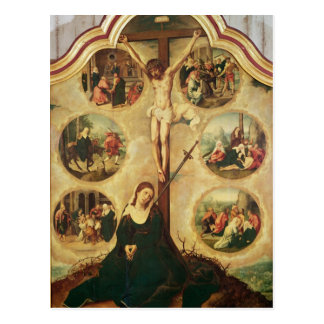 Central panel of a triptych postcard