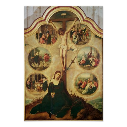 Central panel of a triptych poster