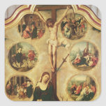 Central panel of a triptych square sticker