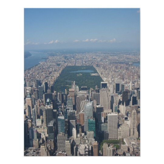 Central Park Aerial Poster