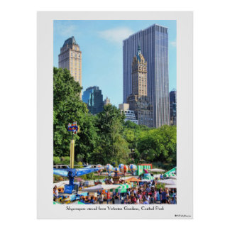 Central Park Amusement Park, Skyscraper backdrop Poster