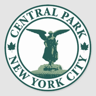 Central Park Angel Round Sticker