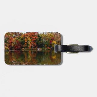 Central Park Autumn Fall Landscape Photo Luggage Tag