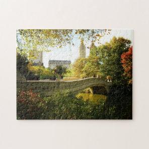 Central Park Autumn Puzzle -  Bow Bridge