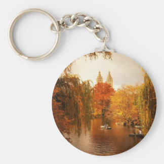 Central Park Autumn Romance Basic Round Button Key Ring