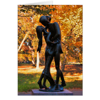 Central Park Autumn: Romeo & Juliet Statue 02 Greeting Card