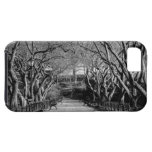 Central Park Black & White Landscape Photo Cover For iPhone 5/5S