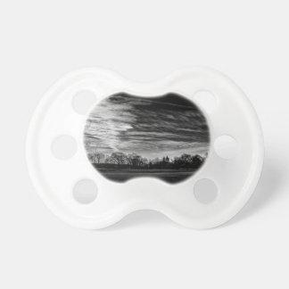 Central Park Black White Landscape Photo Baby Pacifiers