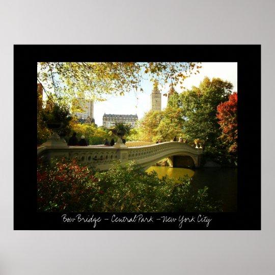 Central Park - Bow Bridge - New York City Poster