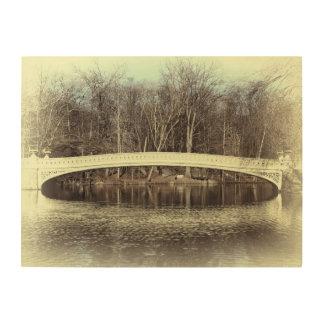 Central Park Bow Bridge Photo Wood Wall Print Wood Canvas