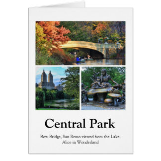 Central Park: Bow Bridge, San Remo, Alice in W.... Greeting Card