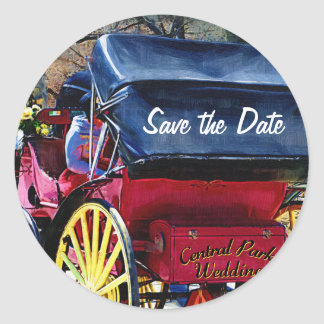 Central Park Carriage Save the Date Stickers