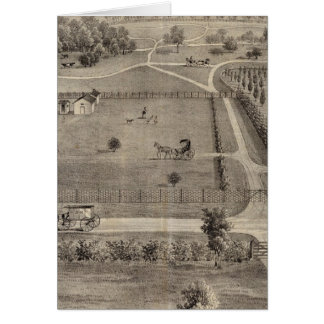 Central Park farm & residence of Geo S Park Greeting Card