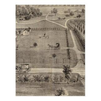 Central Park farm & residence of Geo S Park Postcard
