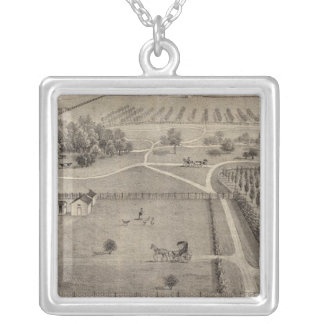Central Park farm & residence of Geo S Park Silver Plated Necklace