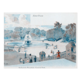 Central Park Fountain Postcard