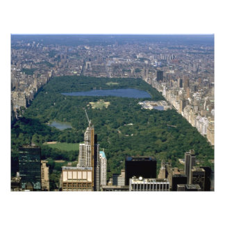 Central Park from the south, New York City, USA 21.5 Cm X 28 Cm Flyer