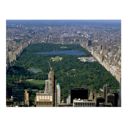 Central Park from the south, New York City, USA Post Cards