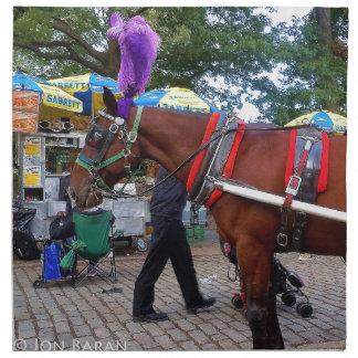 Central Park Horse Napkin