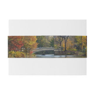 Central Park in Autumn, New York - Invitation Band Invitation Belly Band