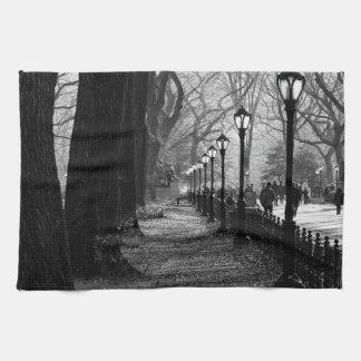 Central Park in New York City Tea Towel