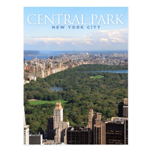 central park in new york postcards
