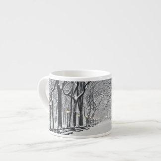 Central Park in Winter 2 Espresso Cup
