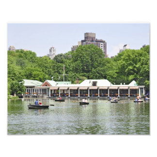 Central Park Lake Boat House Photo Art