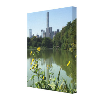 Central Park Lake New York City NYC Photo Art Canvas Print