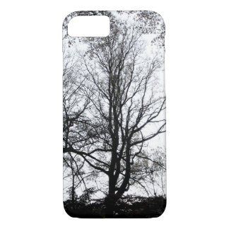 Central Park late autumn almost Barren Tree B&W iPhone 7 Case