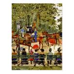 Central Park, New York City by M. Prendergast Post Card
