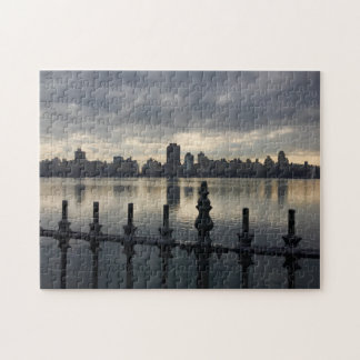 Central Park New York City Reservoir Sunrise Photo Jigsaw Puzzle