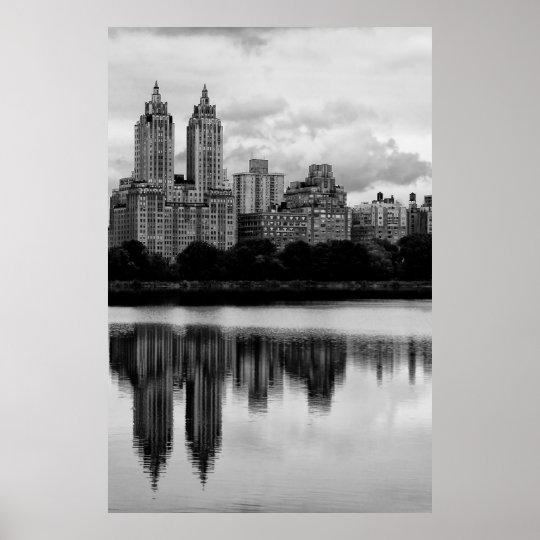 Central Park New York City Skyline Poster