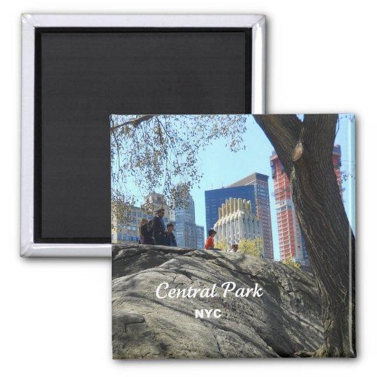 Central Park, New York City Square Magnet