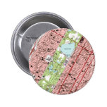 Central Park New York City Vintage Map Buttons
