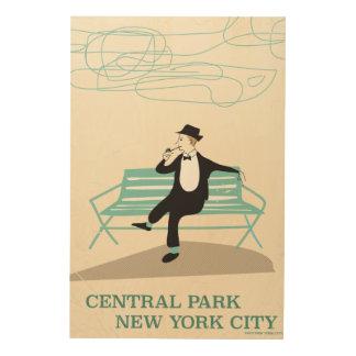 Central Park New York City vintage travel poster Wood Canvas