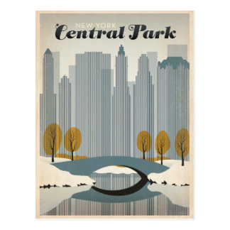 Central Park, NYC - Snow Postcard
