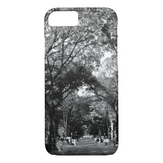 Central Park: Poet's Walk in the Summer BW iPhone 7 Case