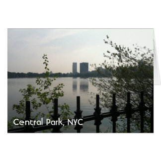 Central Park Reservoir New York City Sunrise NYC Card