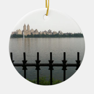 Central Park Reservoir NYC New York City Manhattan Christmas Ornament