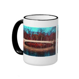 Central Park Rowboat Bridge, NYC Coffee Mug
