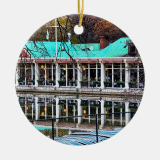 Central Park Rowboat Restaurant Boathouse Christmas Ornament