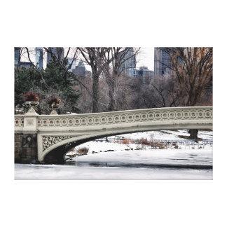 Central Park's Bow Bridge Photo Stretched Canvas Prints