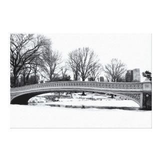 Central Park's Bow Bridge Photo Canvas Print