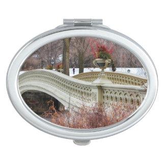 Central Park's Bow Bridge Photo Mirror For Makeup