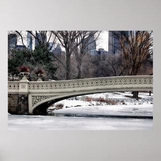 Central Park's Bow Bridge Photo Poster