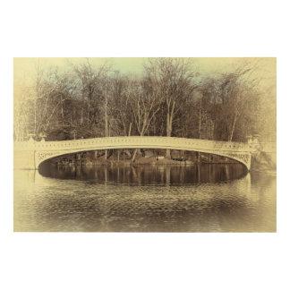 Central Park's Bow Bridge Photo Wood Canvas