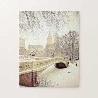 Central Park Snow - Winter New York Puzzle